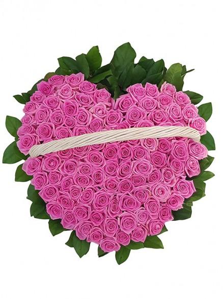 101 роза - ''Пламенное сердце''